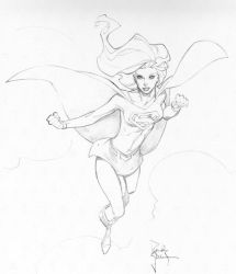 Supergirl Con Sketch by RandyGreen