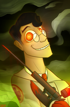 spooky medic by Kitty4President