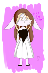 new oc sara the bunny by jefersonbr64