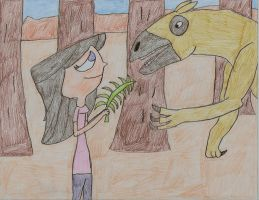 Isabella Feeds the Chalicotherium by CKDinomite65