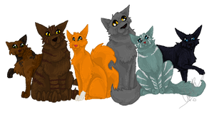 The New Prophecy Cats by Shadowgaze