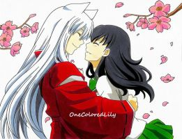 InuYasha and Kagome (3) by OneColoredLily