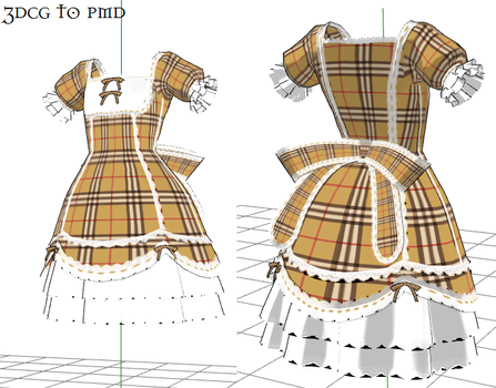 MMD- Plaid Dress-DOWNLOAD by MMDFakewings18