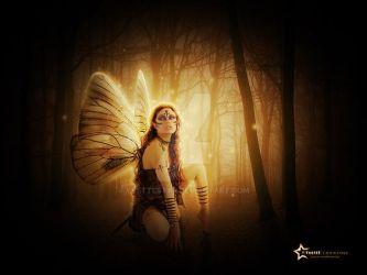 night gold fairy by YvetteStar