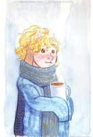 Christmas watercolor : Scipio by kineko