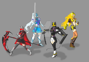 Special Dai Service: RWBY Riders by RamenDriver