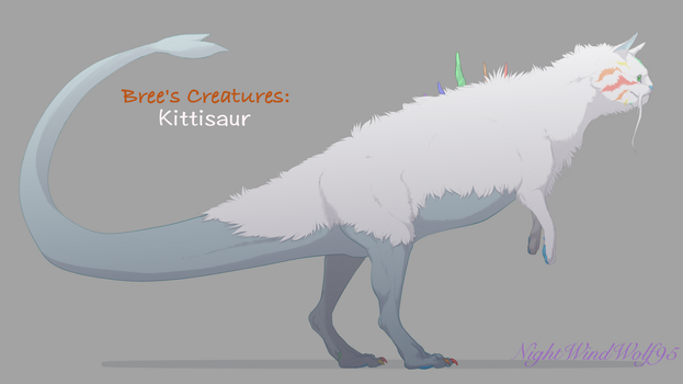 Bree's Creatures: Kittisaur(Female) by nightwindwolf95