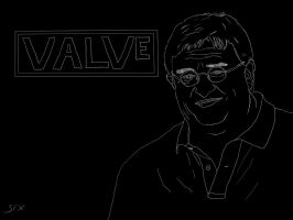 Gabe Newell Sketch by Sound-FX42