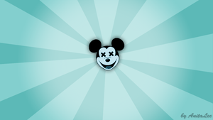 Blue Mickey Mouse wallpaper by AnitaLec