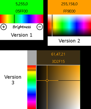 RGB and Hex Color Code Picker Version 3 by 2bndy5