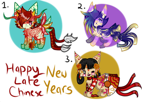 Late Chinese New Years|Ribbonfox Batch [2/3] by lucky-be-me