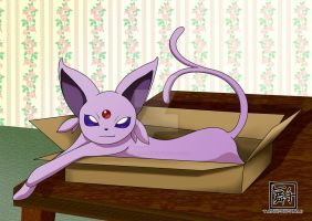 Espeon in a Box by Tanbi-no-Kami