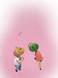 Kabocha finds a friend by orehovka