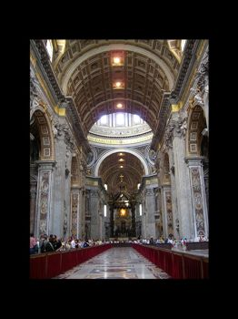 St Peter's Basilica - Interior by valkryja