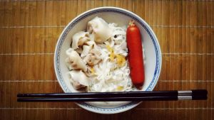 I cook noodles with wonton. by Killer-29