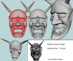 Hannya Mask model by B0R