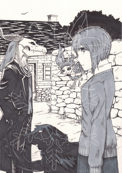 Out on a Walk (Ancient Magus Bride) by TrueWinterSpring