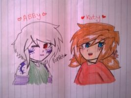 Katy and Abby by Poppet-Seed