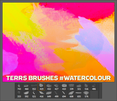 Watercolour Brushes by FishboneArt