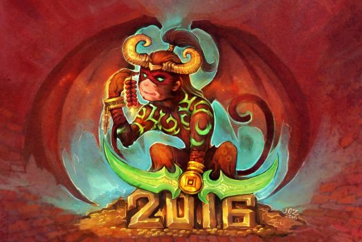 Illidan-Chinese monkey year by liuhao726