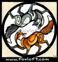 Yin Yang Series - Foxes by Foxfeather248