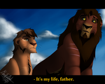 Father And Son [redraw] by MossTheOwl