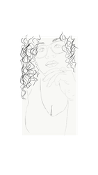 Curly Sketch by 1drelopes