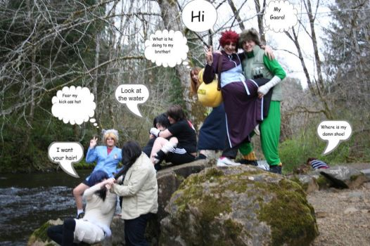 Naruto group in the woods by LeonKSpiderKitty