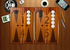 Backgammon Board Clock 1 for xwidget by Jimking