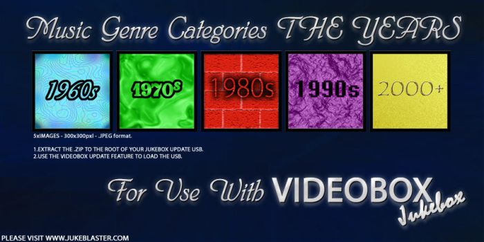 Music Genre Categories - The Years V1.0 by EffECKTz