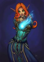 mage world of warcraft by funeralwind