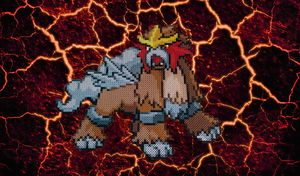 Pokemon #18 - Entei (background) by MagicPearls