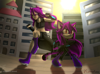 Contest Entry - Sunset in the city by Karneolienne
