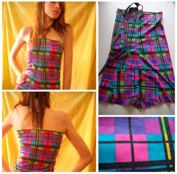 Plaid Mod Top by deconstructedstars