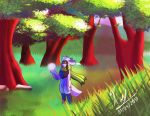 In the woods by Xael-The-Artist