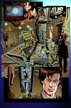 Doctor Who Page 1 Color by ShawnVanBriesen