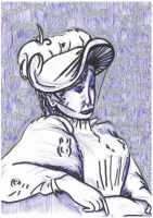 Woman With Hat 3 by GMAC06