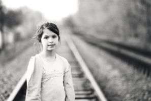 girl on tracks by equivoque