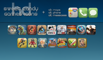 Sweet Candy HD Game Icons + by vasyndrom