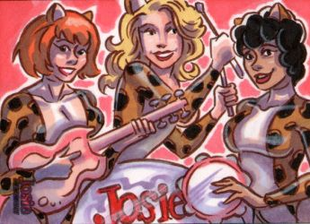 Josie and the Pussycats Sketch Card by EricaHesse
