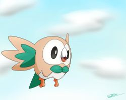 Rowlet - The Flying Grass Starter! by GdGreat