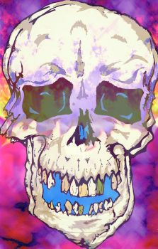 Skulll Purple Backgrounds by DaveErving