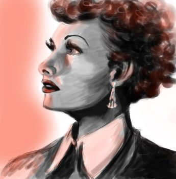 Lucille Ball speed painting by MSprinkleZ