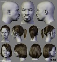 Halo Hairstyles 02 by Woodys3d