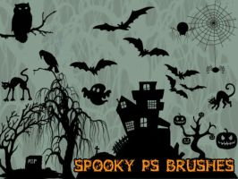 Spooky Photoshop Brushes by petermarge