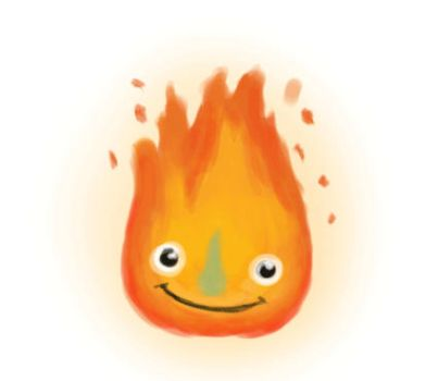 Happy Calcifer by Z-Oras