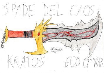 SPADE DEL CAOS - BLADES OF CHAOS by DSegno92