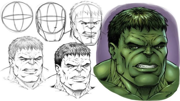 How to Draw the Hulk - Step by Step by robertmarzullo