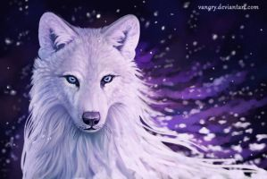 Winter Wolf by Vawie-Art