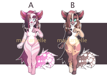 Twin Anthro Adopts - $10 [CLOSED] by mai-anjelle